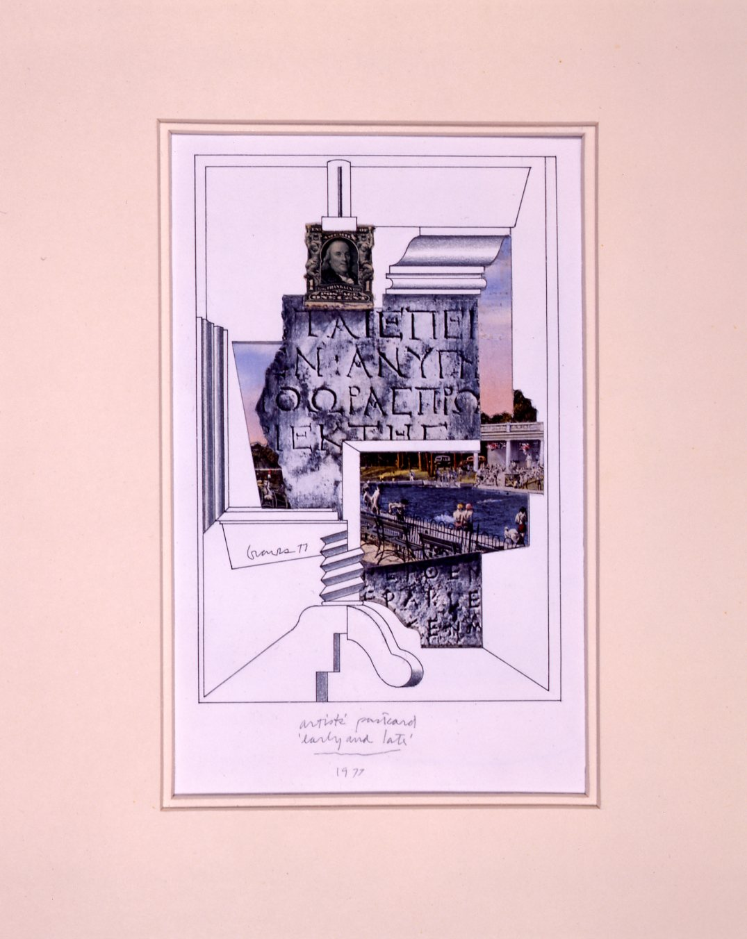 Artists' postcard 'early and late': Michael Graves