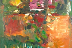 In the Wake of the Hurricane1960Oil on canvas72 ¼ x 60 in. (183.5 x 152.4 cm)University of California, Berkeley Art Museum and Pacific Film ArchiveGift of the artist, 1965 (1965.6)