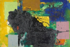 The Vanquished, 1959; oil on canvas; 36 1/8 x 48 1/8 in.; University of California Berkeley Art Museum and Pacific Film Archive; bequest of the artist. © The Regents of the University of California, photography by Jonathan Bloom.
