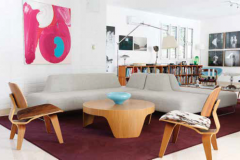 Clean-lined European upholstered pieces, a pair of Charles Eames–style plywood chairs, and an impressive collection of art make the Norwegian ambassador's residence the most contemporary interior in Havana today.