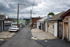 Neighborhood above steel mill, Bethlehem, Pennsylvania 2006