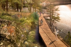 Black Bay Park, Post Falls, Idaho: Waters Edge Boardwalk