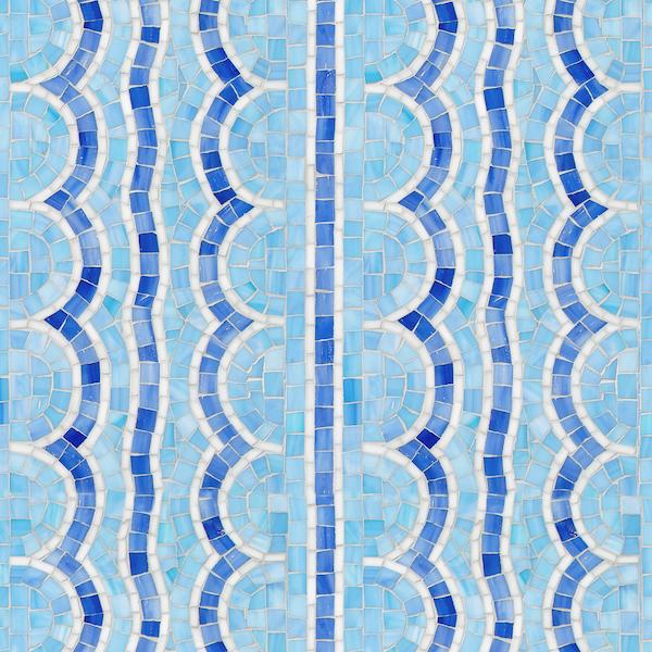 Tanzanian Squiggle Jewel Glass Mosaic