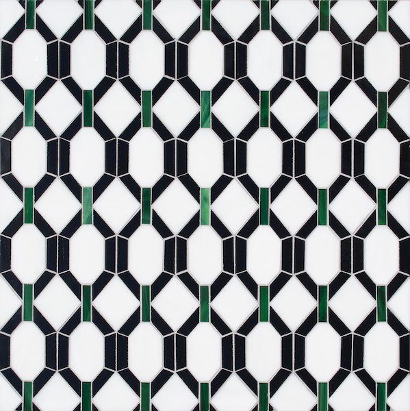 Tanzanian Trellis Jewel Glass Mosaic