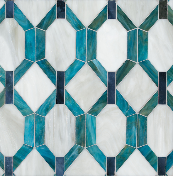 Tanzanian Trellis Grand Jewel Glass Mosaic