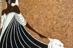La Panthère Blanche jewel glass mosaic