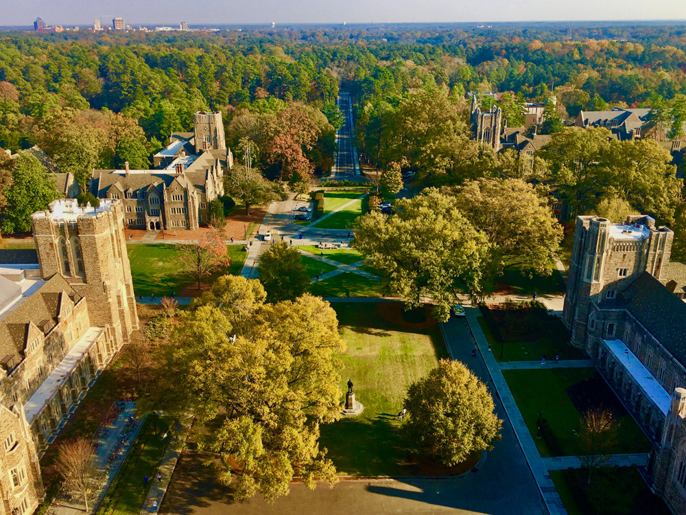 Aerial, Duke Campus, MarkHough