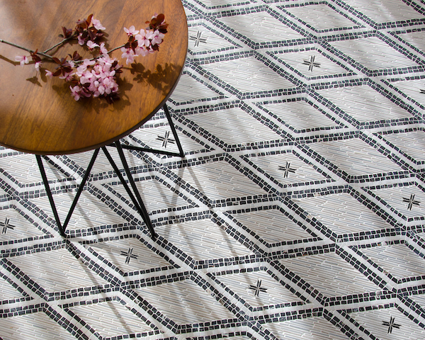 Rimini stone mosaic designed by Paul Schatz as part of the Legend Collection by New Ravenna