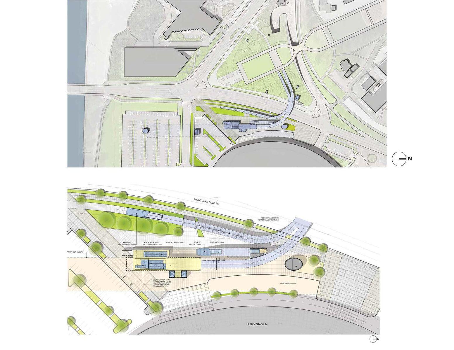 University of Washington Transit Station by