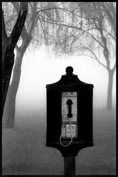 Phone in Fog, (c) Louis Sahuc