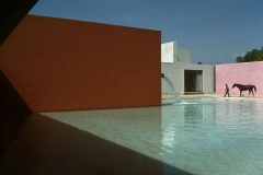 Stable, horse, pool and house planned by architect Luis Barragan, Rene Burri, Magnum Photos