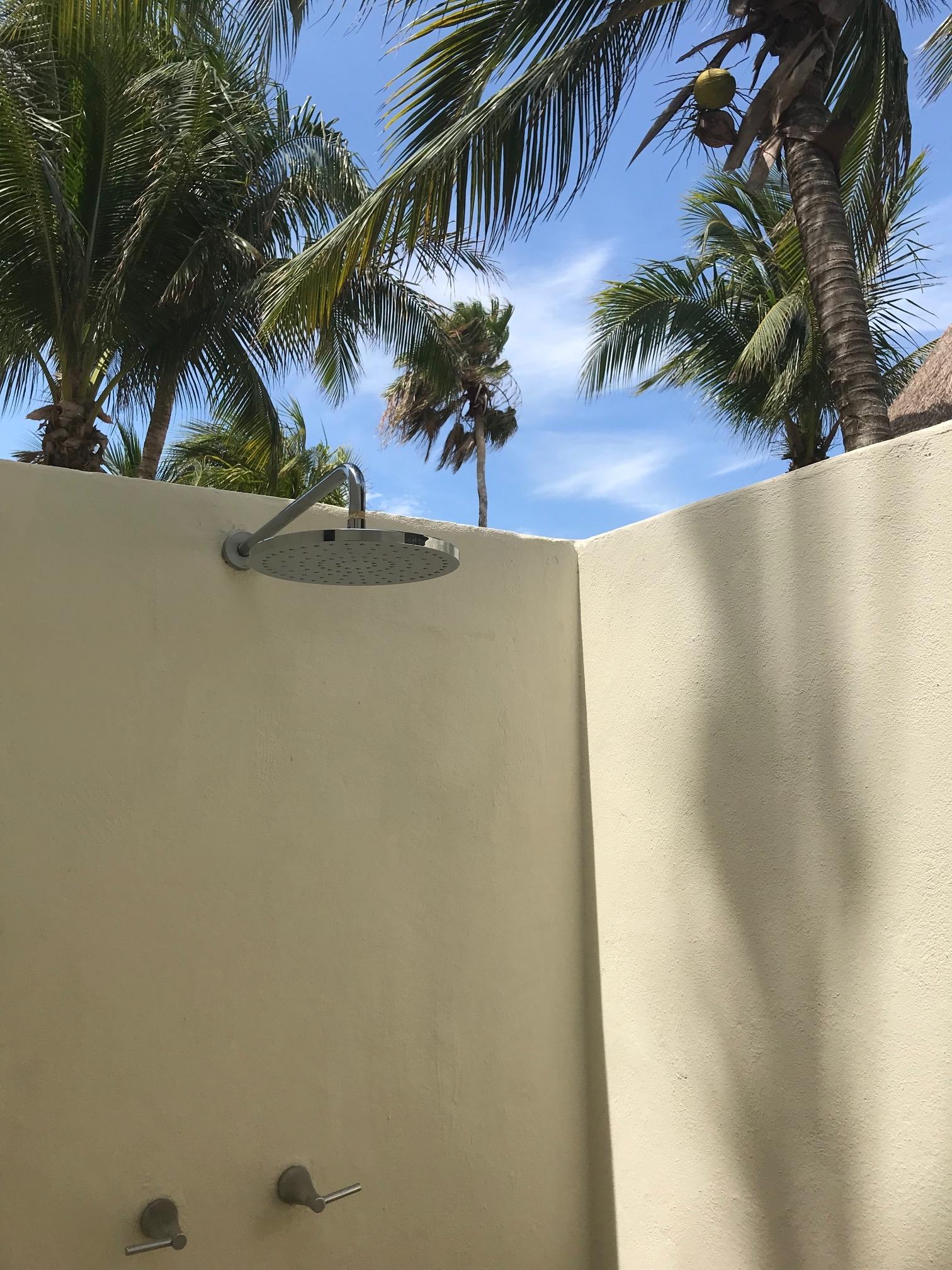 Outdoor Shower, Mahekal Resort, Mexico