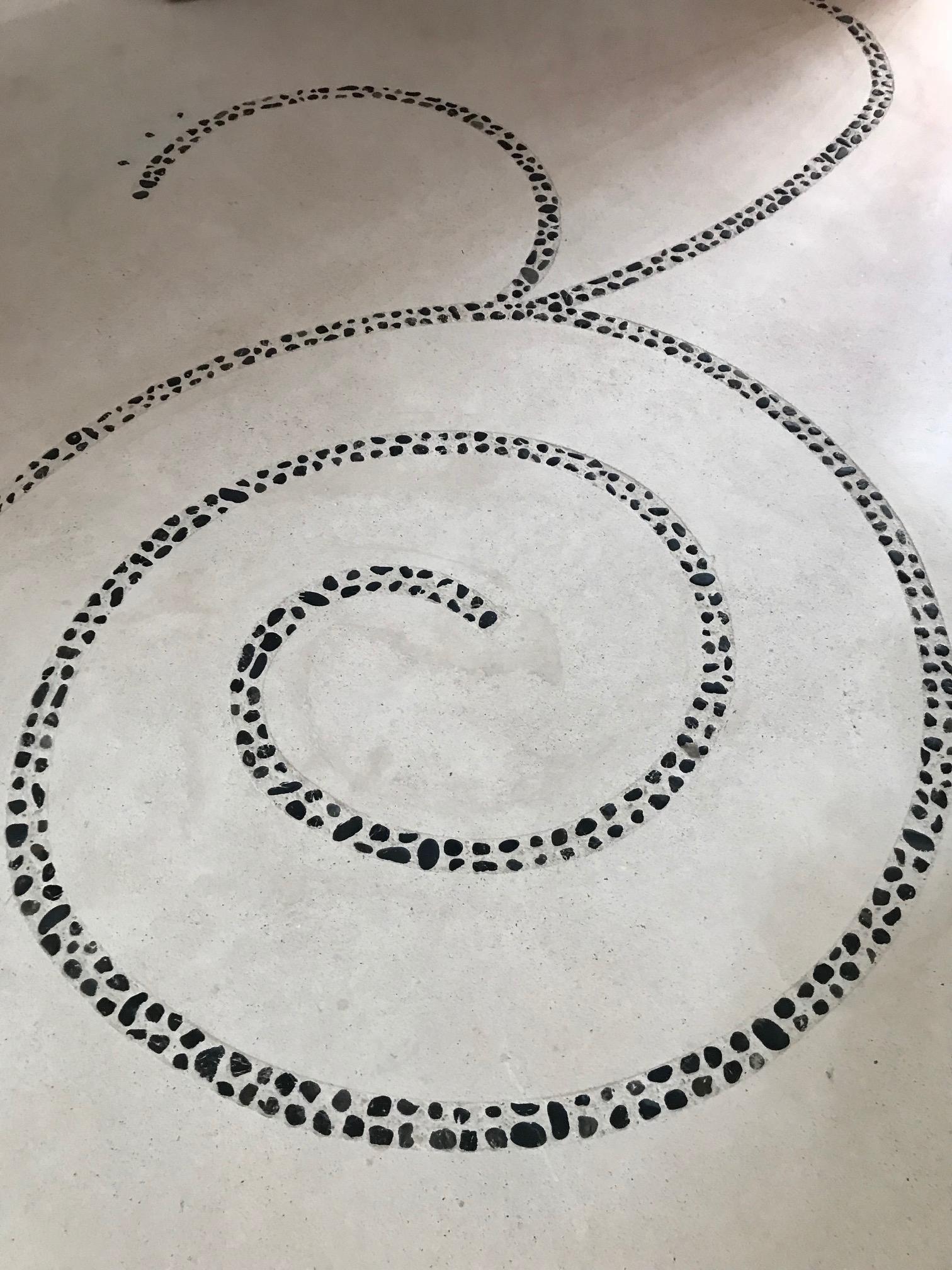Spiral Patterned Floor, Mahekal Resort, Mexico