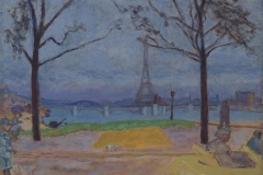 Pierre Bonnard (French, 1867–1947). The Pont de Grenelle and the Eiffel Tower, ca. 1912. Oil on canvas, 21 1/2 x 27 in. Virginia Museum of Fine Arts, Richmond, Collection of Mr. and Mrs. Paul Mellon, 2006.44. Image © Virginia Museum of Fine Arts. Photo: Katherine Wetzel
