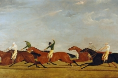 John Frederick Herring, Sr. (English, 1795–1865). The Final Lengths of the Race for the Doncaster Gold Cup, 1826. Oil on canvas, 17 3/4 x 35 3/4 in. Virginia Museum of Fine Arts, Richmond, Paul Mellon Collection, 99.79. Image © Virginia Museum of Fine Arts. Photo: Katherine Wetzel