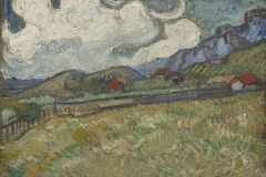 Vincent van Gogh (Dutch, 1853–1890). The Wheat Field behind St. Paul's Hospital, St. Rémy, 1889. Oil on canvas, 9 1/2 x 13 1/4 in. Virginia Museum of Fine Arts, Richmond, Collection of Mr. and Mrs. Paul Mellon, 83.26. Image © Virginia Museum of Fine Arts. Photo: Katherine Wetzel
