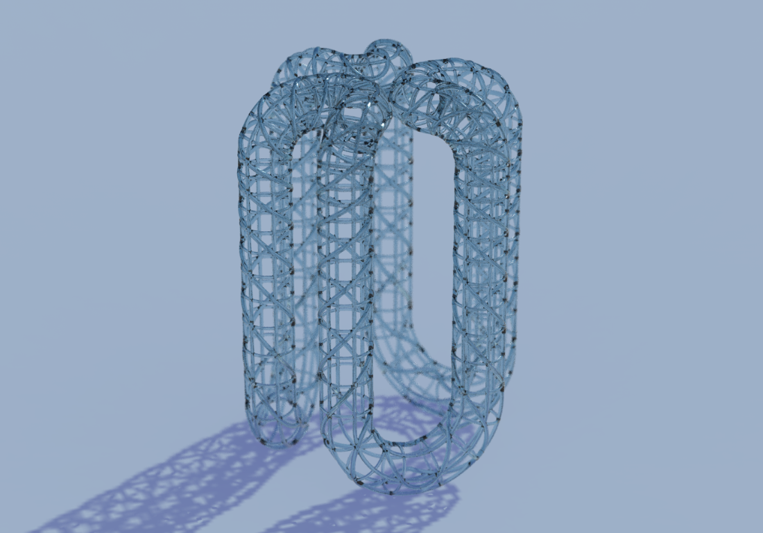 Biomimicry - Inspired by the Venus Flower Basket sea sponge, this rendering of the stool designed by Humanscale's Jacob Turetsky minimizes material use through additive manufacturing. © Humanscale