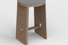 Made from Waste - Rendering of a concept stool designed by Humanscale's Sergio Silva using primarily UBQ Materials from reformulated non-recyclable municipal waste. © Humanscale