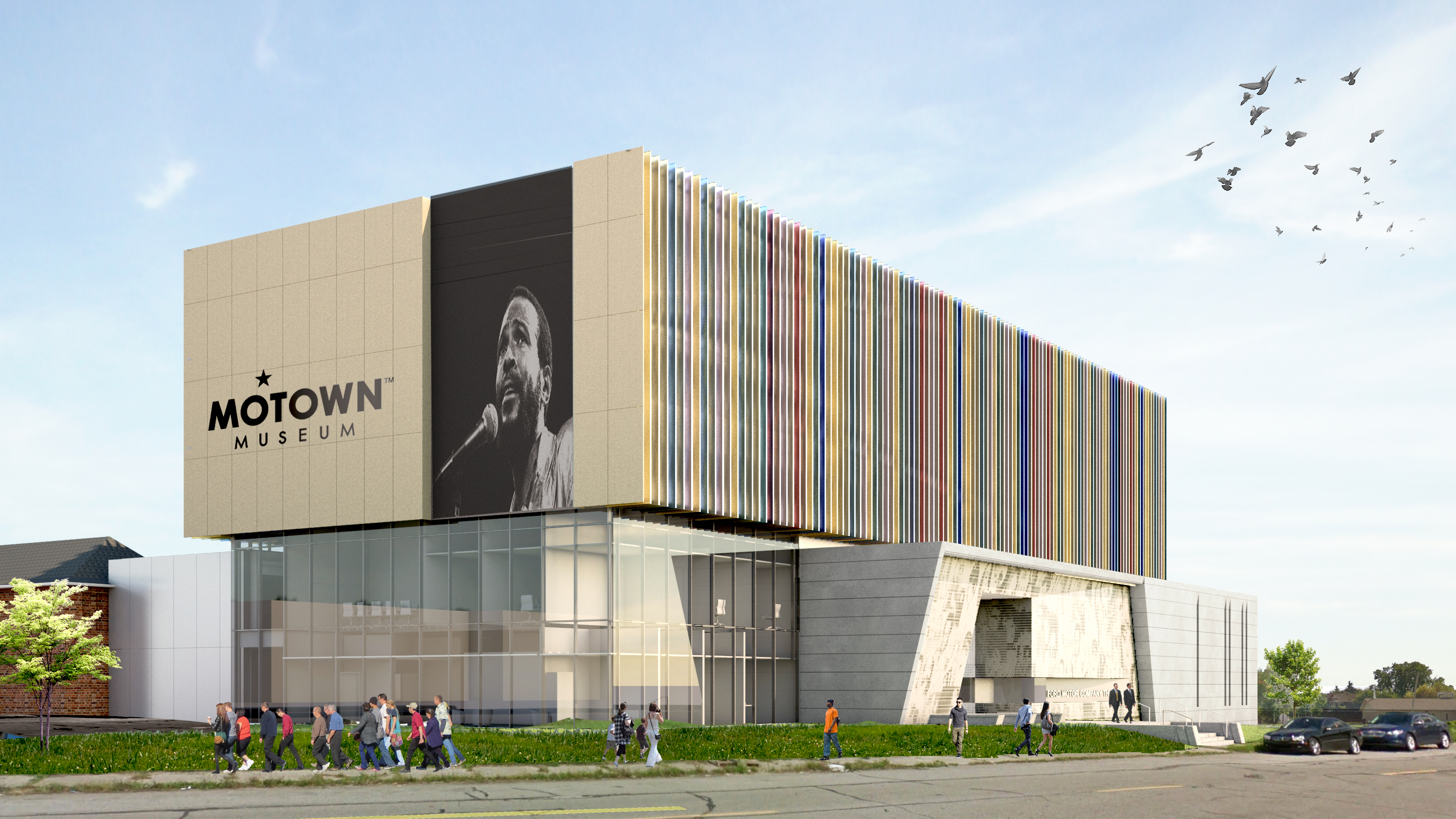Motown Museum, End with Signage; Perkins+Will