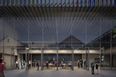 Motown Museum, Courtyard Night View; Perkins+Will