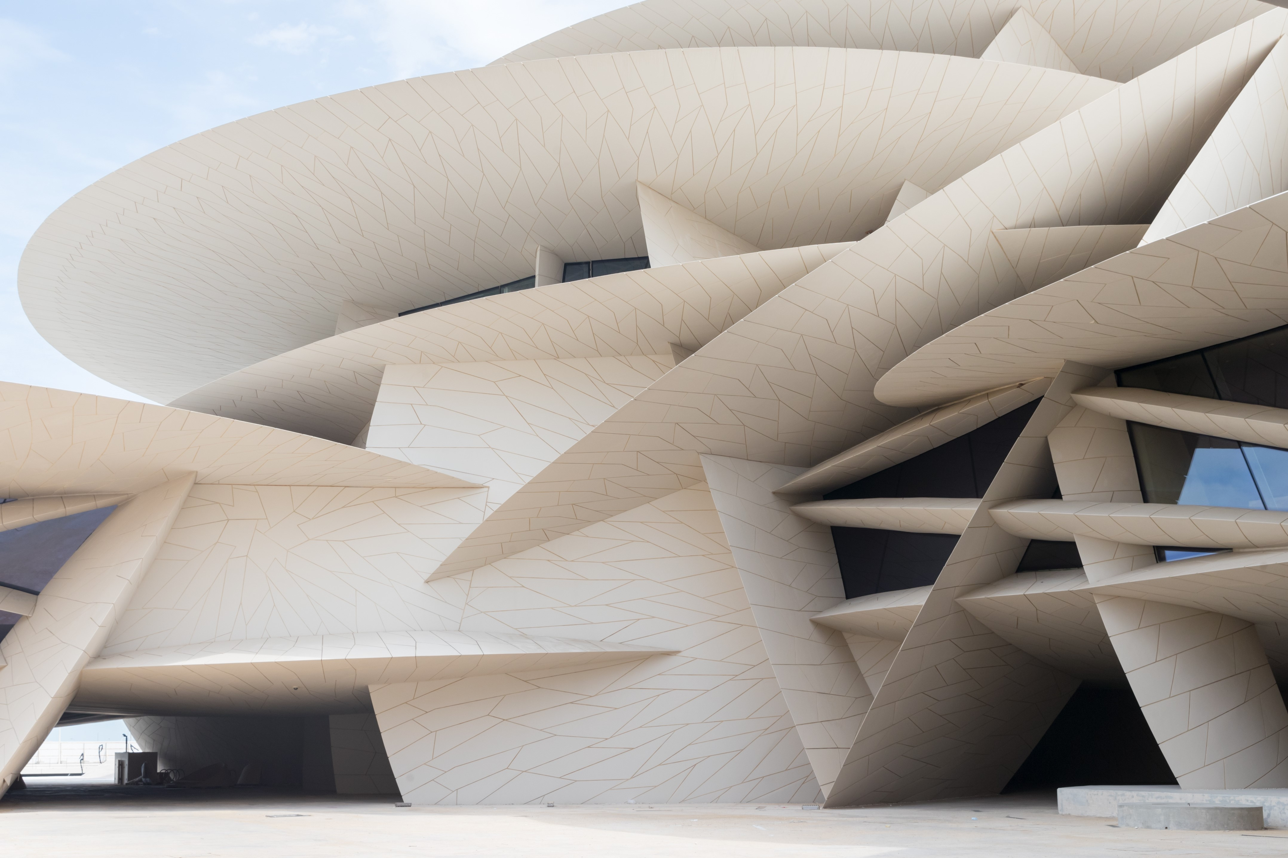 National Museum of Qatar, designed by Ateliers Jean Nouvel, Photo by Iwan Baan