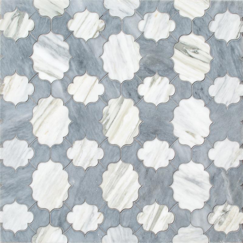 Fretwork stone mosaic