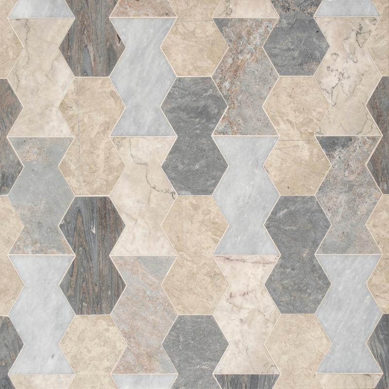 Zig Zag stone mosaic