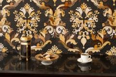 Brocade glass mosaic