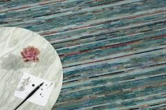 Sharper Stripes jewel glass mosaic