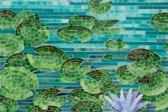 Water Lilies jewel glass mosaic