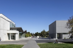 Nora Eccles Harrison Museum of Art. 2018 building renovation and expansion. Campus view with adjacent Russell/Wanlass Performance Hall.