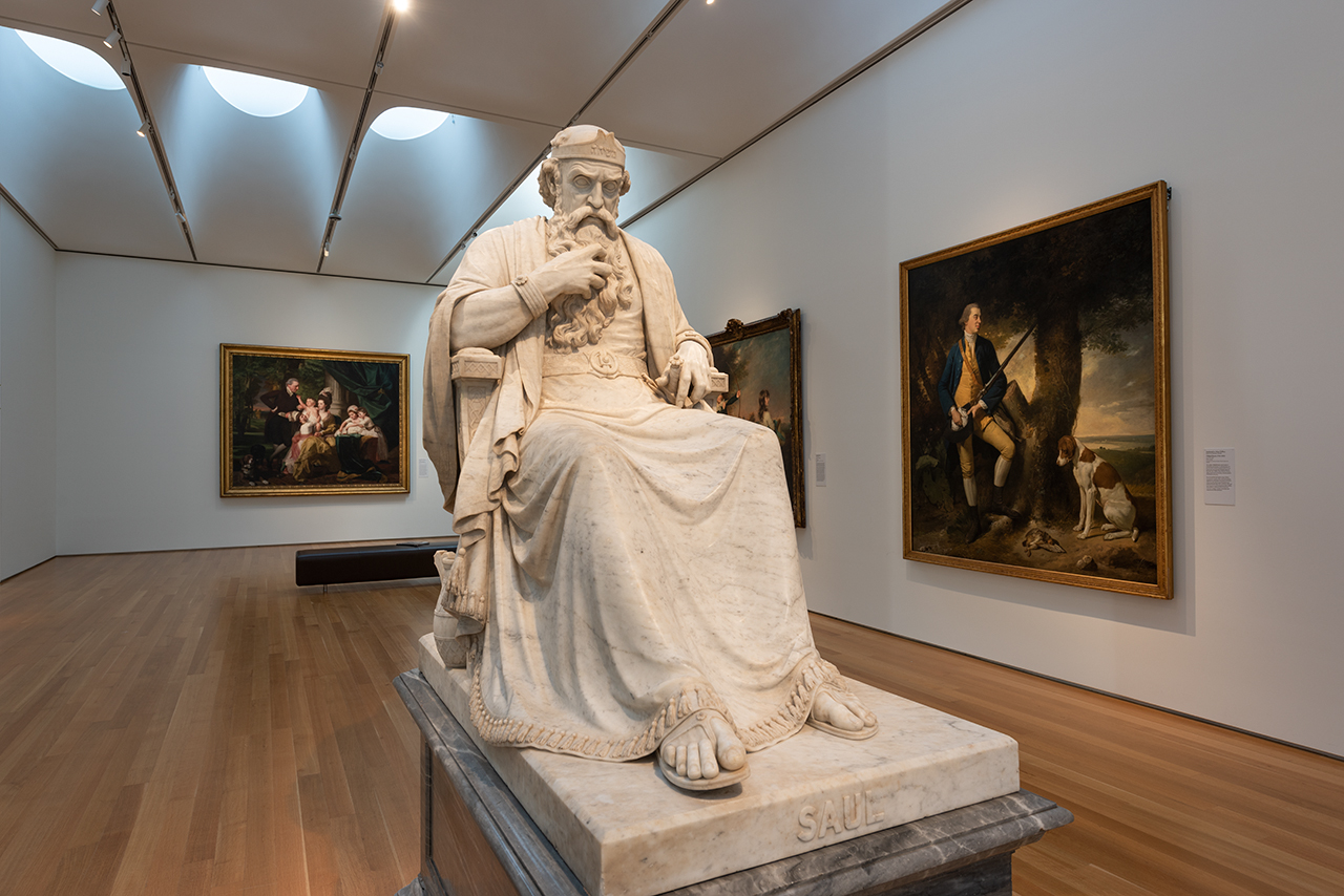 Saul Under the Influence of the Evil Spirit, NCMA West Building, William Wetmore Story