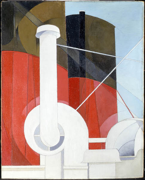 Charles Demuth, Paquebot Paris, 1921–22. Oil on canvas. Columbus Art Museum, Gift of Ferdinand Howald. © Columbus Art Museum.