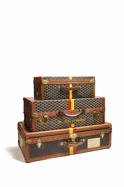 Goyard, Goyard luggage, Duchess of Windsor, about 1950. Miottel Museum, Berkeley, California. © 2016 Peabody Essex Museum. Photo by Luke Abiol.
