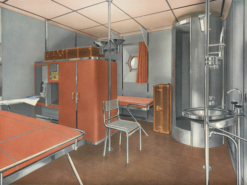 Rene Herbst. 1st class cabin design from Cabines en acier de paquebots, 1935. Phillips Library, Peabody Essex Museum, LIBVM382-.C335-1935. © Phillips Library, Peabody Essex Museum. Photo by Jarrod Staples.