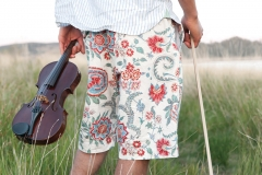 Violin in a field