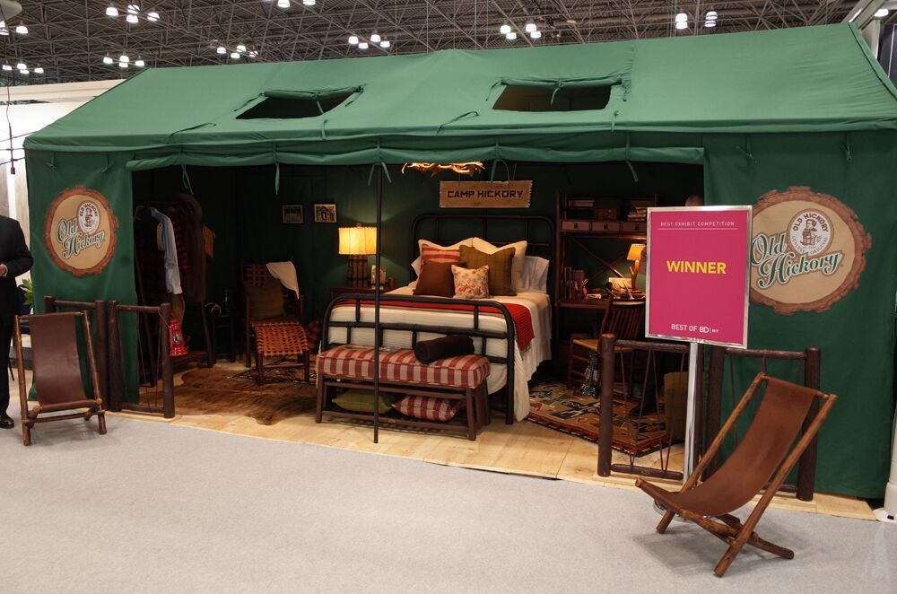 """Camp Hickory"" wins BDNY best exhibit with Jeremiah Young design"