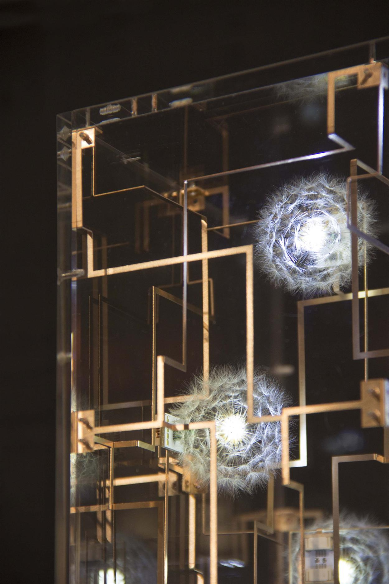 3c. Close-up, 'Fragile Future by Studio Drift. Carpenters Workshop Gallery
