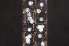 3a. 'Fragile Future', dandelion seeds, phosphorous bronze, LEDs, perspex, by Studio Drift. Limited edition of 20 _ 2AP. Carpenters Workshop Gallery
