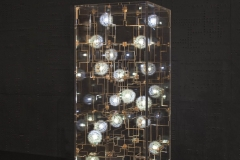 3b. 'Fragile Future by Studio Drift. Phosporous bronze, dandelion seeds, LEDs and perspex. Limited edition of 20 + 4 AP. Carpenters Workshop Gallery