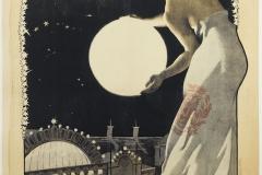Georges Paul Leroux (1877-1957). Imprimerie Charles Verneau. Exposition Universelle , Palais de l'Optique, La Grande Lunette de 1900. Affiche. Lithographie couleur, 1900. Paris, musée Carnavalet.
