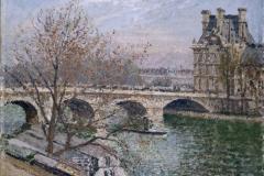 """Camille Pissarro (1830-1903). """"Le pont Royal et le pavillon de Flore"""", 1903. Musée des Beaux-Arts de la Ville de Paris, Petit Palais."""