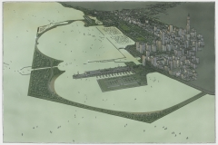 Lohan Associates. Chicago Lagoon Proposal, Perspective, 1987. The Art Institute of Chicago. Gift of Lohan Associates.