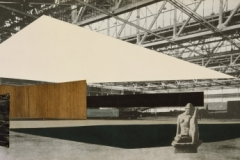 Daniel Brenner. Student Project for Concert Hall, Perspective Collage,1946. The Art Institute of Chicago.Gift of Rachael, Jon and Ariel Brenner