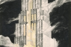 Preview | Download (1.39 MB) Charles Willard Moore,John Ruble, and Buzz Yudell.Late Entry to the Tribune Tower Competition, Perspective, 1980. The Art Institute of Chicago. Purchased from Young Hoffman Gallery; Architecture Fellows restricted gift; Architecture Purchase Account.