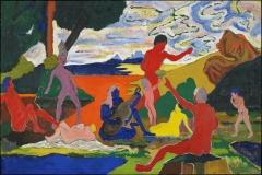 Bob Thompson (1937-1966), Homage to Nina Simone, 1965. oil on canvas. 48 x 72 ¼ in. (sight). Collection of Minneapolis Institute of Art, Minnesota. The John R. Van Derlip Fund, 89.83.