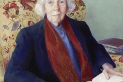 Mildred Nungester Wolfe (1912-2009), Portrait of Eudora Alice Welty, 1988. oil on canvas. 39 ½ x 33 ½ in. (framed). Collection of the National Portrait Gallery, Smithsonian Institution, Washington D.C. NPG.88.163.