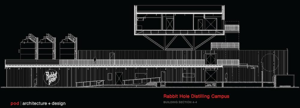 Rabbit Hole Distillery, Building Section