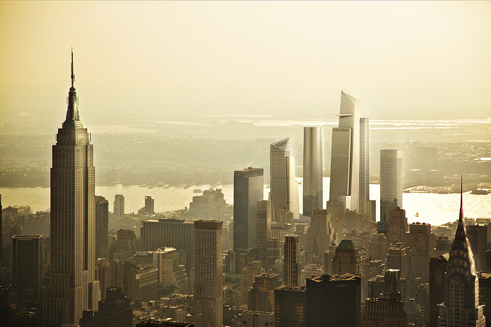 Hudson Yards View from Empire State Building (c) Related-Oxford
