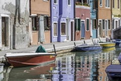 Burano Houses and Boats, Italy